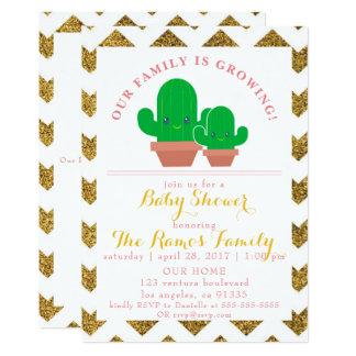 Invitación de oro de la fiesta de bienvenida al