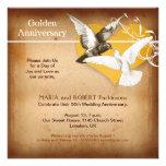 invitación de oro del aniversario