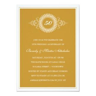 Invitación de oro del fiesta del medallón del