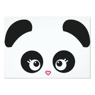 Invitación de Panda® del amor Invitación 12,7 X 17,8 Cm