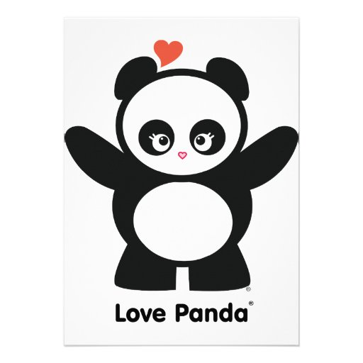 Invitación de Panda® del amor