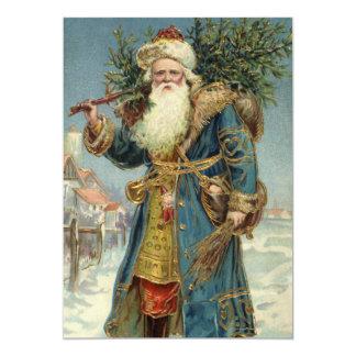 Invitación de Papá Noel del Victorian del navidad
