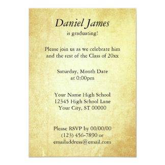 Invitación de papel del documento