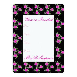 Invitación de papel florecida rosada bonita del