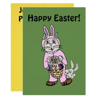 Invitación de Pascua del conejito del gato