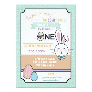 Invitación de Pascua del cumpleaños UNO del fiesta