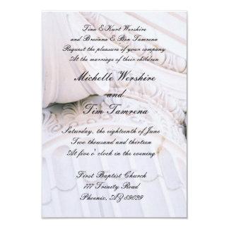 Invitación de piedra del boda del pilar invitación 8,9 x 12,7 cm