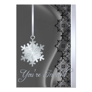 Invitación de plata de la seda de la plata de la