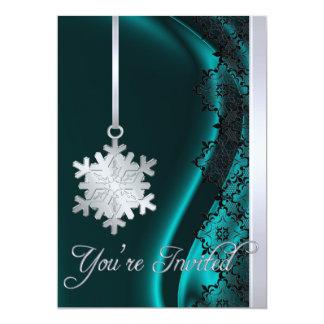 Invitación de plata de la seda del trullo de la invitación 12,7 x 17,8 cm
