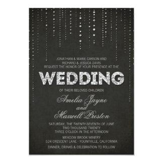 Invitación de plata del boda de la mirada del