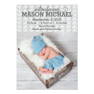 Invitación de plata moderna del bebé del modelo