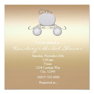 Invitación de princesa Cenicienta Carriage champán