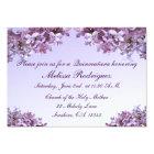 Invitación de Quinceanera de la lila