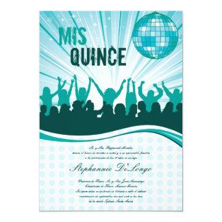 invitación de Quinceanera del baile del trullo 5x7