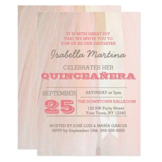 Invitación de Quinceañera del tutú del ballet