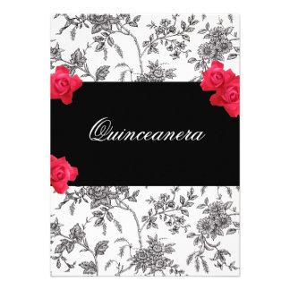 Invitación de Quinceanera/dulce quince