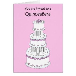 Invitación de Quinceanera Tarjeta De Felicitación