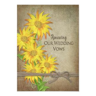 Invitación de renovación de los votos de boda -