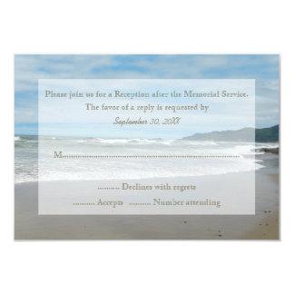 Invitación de RSVP de la ceremonia conmemorativa