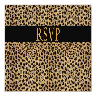 Invitación de RSVP todo el estampado de animales