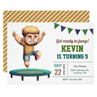 Invitación de salto de la fiesta de cumpleaños del