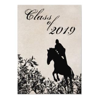 Invitación de salto de la graduación del caballo