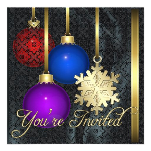 Invitación de seda negra del cordón de las decorac