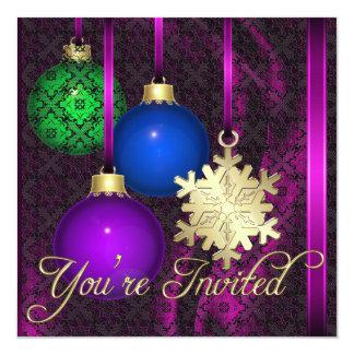Invitación de seda rosada del cordón de las invitación 13,3 cm x 13,3cm