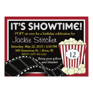 """Invitación de """"Showtime"""" de las palomitas"""
