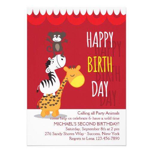 Invitación de tres amigos del cumpleaños