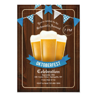 Invitación de tres cervezas de Oktoberfest