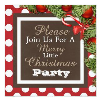 """Invitación """"de una feliz pequeña fiesta de invitación 13,3 cm x 13,3cm"""