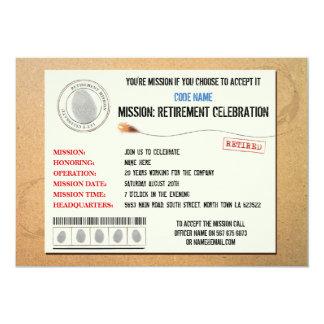 Invitación del agente secreto del fiesta de retiro
