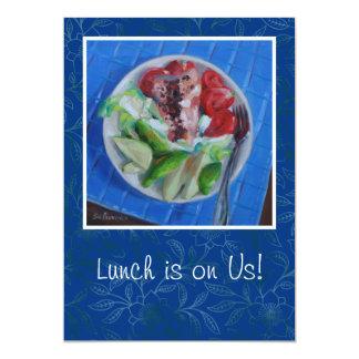 Invitación del almuerzo invitación 12,7 x 17,8 cm
