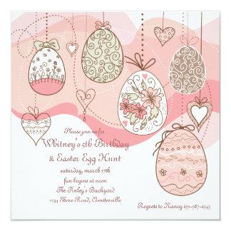 Invitación del amor de Pascua Invitación 13,3 Cm X 13,3cm