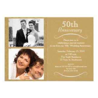 invitación del aniversario de boda 5oth