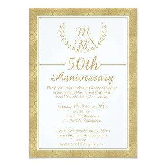 Invitación del aniversario de boda de la guirnalda
