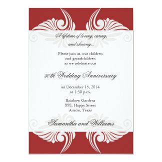 Invitación del aniversario de boda de la obra