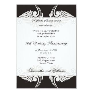 Invitación del aniversario de boda de la obra invitación 12,7 x 17,8 cm