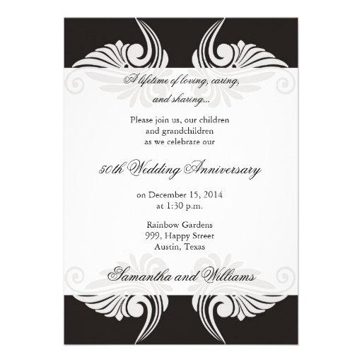 Invitación del aniversario de boda de la obra clás