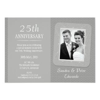 Invitación del aniversario de boda de la plata de
