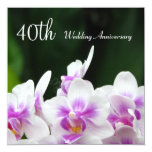 Invitación del aniversario de boda de las