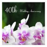Invitación del aniversario de boda de las orquídea