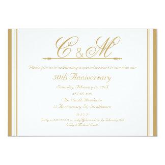Invitación del aniversario de boda de los
