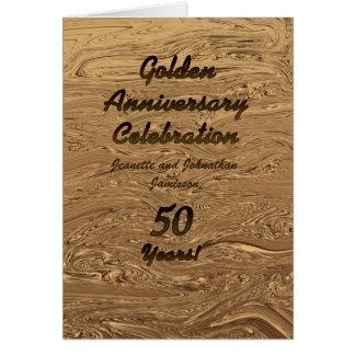 Invitación del aniversario de boda de oro 50 años tarjetón