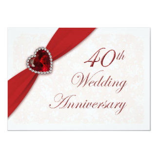 Invitación del aniversario de boda del damasco invitación 11,4 x 15,8 cm