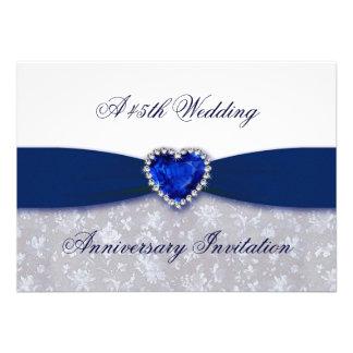 Invitación del aniversario de boda del damasco 45