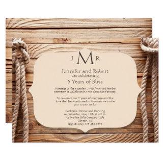 Invitación del aniversario de boda del nudo de