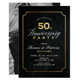 Invitación del aniversario de boda del oro 50.o de