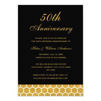 Invitación del aniversario de boda del panal 50.o
